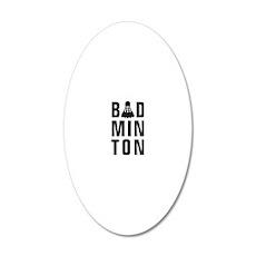 Badminton 20x12 Oval Wall Decal
