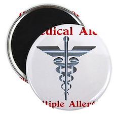 Multipe Allergies Medical Alert Magnet