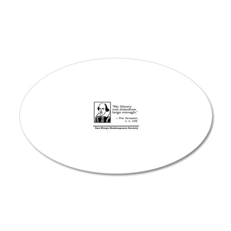 magnet-libraryquote 20x12 Oval Wall Decal