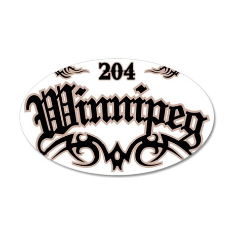Winnipeg 204 35x21 Oval Wall Decal