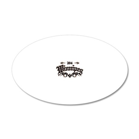 Winnipeg 204 20x12 Oval Wall Decal