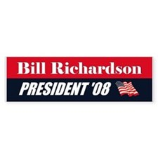 BILL RICHARDSON FOR PRESIDENT Bumper Car Sticker
