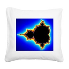 Mandelbrot Set 03 Square Canvas Pillow