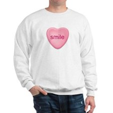 smile  candy heart Sweatshirt