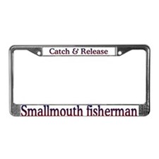 Smallmouth fishing License Plate Frame
