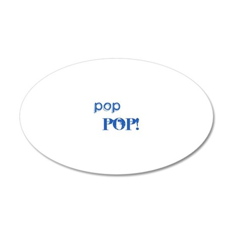poppop3 20x12 Oval Wall Decal