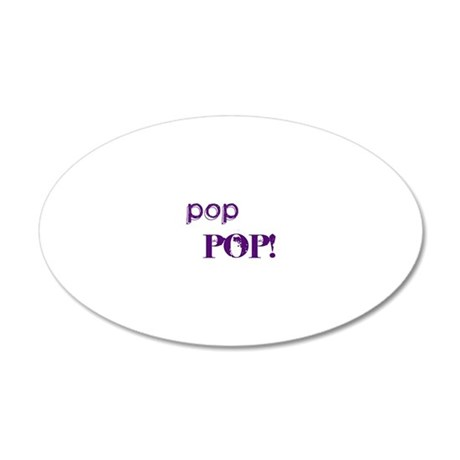 poppop4 20x12 Oval Wall Decal
