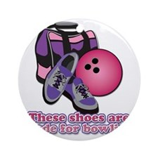 BowlingShoes Round Ornament