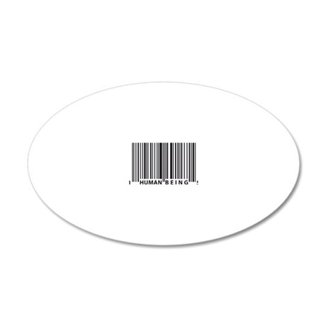 barcode 20x12 Oval Wall Decal