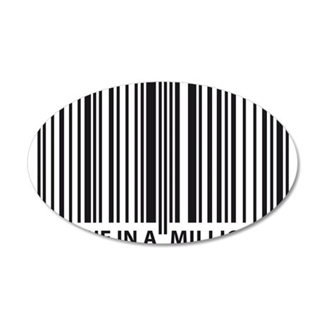 barcode 35x21 Oval Wall Decal