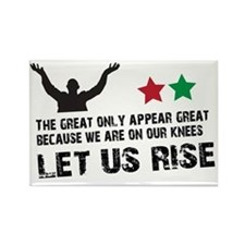 Jim Larkin quote black Rectangle Magnet