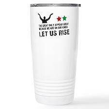 Jim Larkin quote black Travel Mug