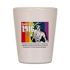 1916 Easter Rising 10x10 white Shot Glass