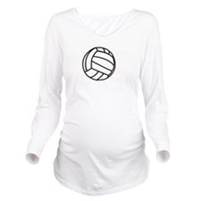 Volleyball Served Wh Long Sleeve Maternity T-Shirt