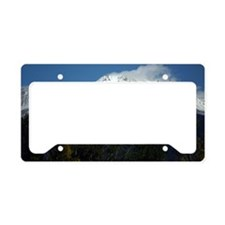 Mount Shasta with trees License Plate Holder