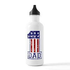 1 Dad USA B Sports Water Bottle
