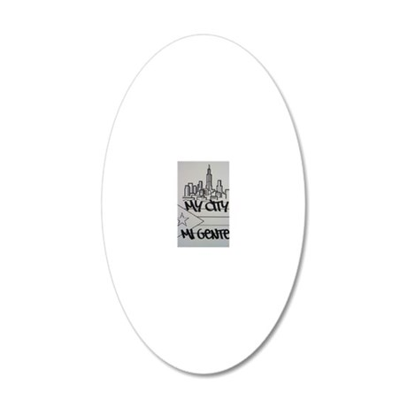 MY CITY 20x12 Oval Wall Decal