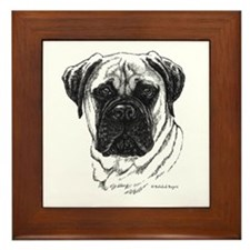 Bullmastiff Framed Tile