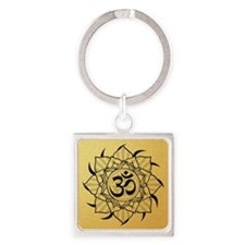 aum-goldcoin Square Keychain