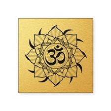 "aum-goldcoin Square Sticker 3"" x 3"""
