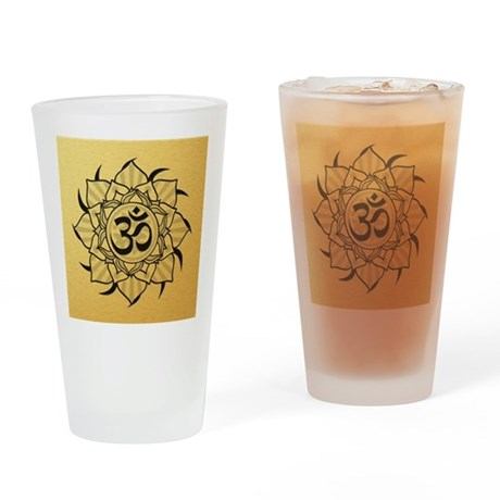 aum-goldcoin Drinking Glass