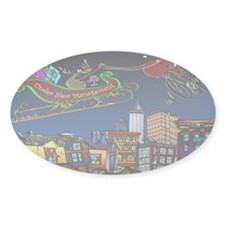 7829_Christmas_cartoon_wide Decal