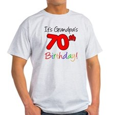 Its Grandpas 70th Birthday T-Shirt
