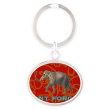 dontforgetelephant Oval Keychain