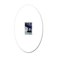 bridge 20x12 Oval Wall Decal