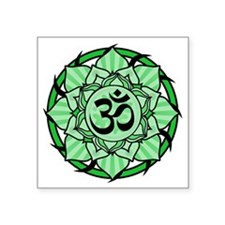 "aum-green Square Sticker 3"" x 3"""