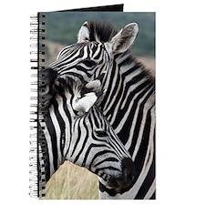nuzzling zebras Journal