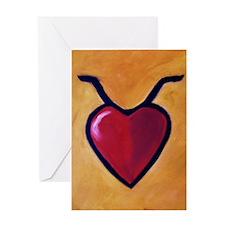 TaurusHeart Greeting Card