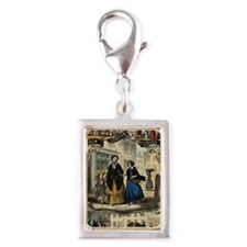 London Street Cries Silver Portrait Charm