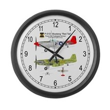 Mustang_RedTail_85_Clock Large Wall Clock
