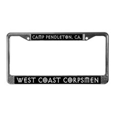 West Coast Corpsmen License Plate Frame