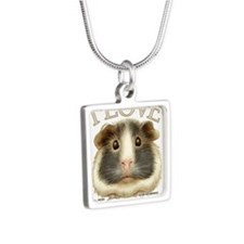 guineadraw Silver Square Necklace