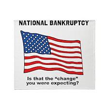 bankrupt Throw Blanket