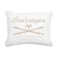 true vampire stone text  Rectangular Canvas Pillow