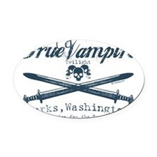 true vampire twilight copy Oval Car Magnet