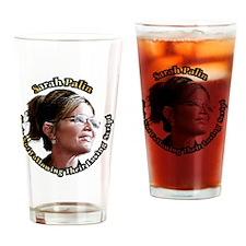SarahLookingAway6x6 Drinking Glass