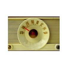 Vintage Radio Rectangle Magnet