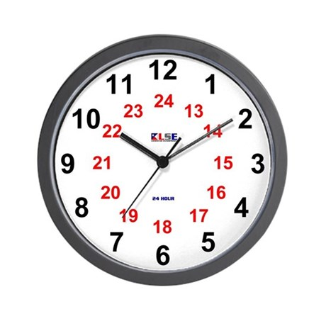 Wall Clock 24 Hour Large Numeral By Lonestar Ent