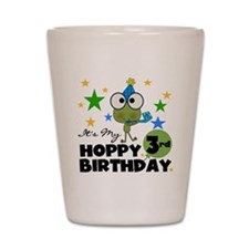 Frog Hoppy 3rd Birthday Shot Glass