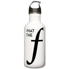 what-the-f-001-black Water Bottle