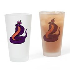 10x10_kingcobra Drinking Glass