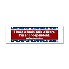 Brain and a Heart, ver 1 Car Magnet 10 x 3