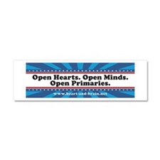Open Hearts, Open Minds Car Magnet 10 x 3