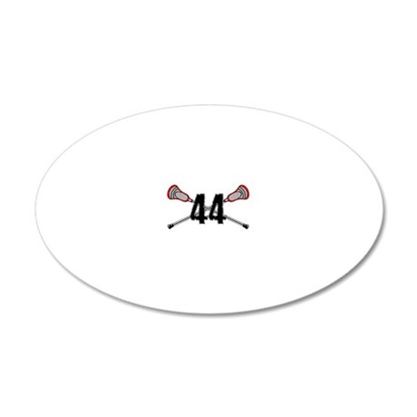 44red 20x12 Oval Wall Decal