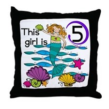 MERMAIDFIVE Throw Pillow