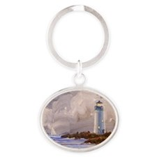 Santa Cruz Lighthouse Oval Keychain